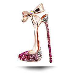 kobiet moda stopu / Rhinestone wysokie obcasy złocenie broszki szpilka stron / dobę / biżuteria ślubna luksusowe 1szt