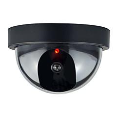 1kpl sisä ulkona CCTV fake nuken kupoli valvontakamera kanssa flahsing punainen led valo