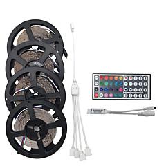 20m (4 * 5m) 1200smd 3528 RGB 44keys IR távirányító LED csík fény készletek ac100-240v