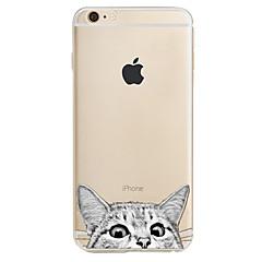 Voor Patroon hoesje Achterkantje hoesje Kat Zacht TPU voor Apple iPhone 7 Plus iPhone 7 iPhone 6s Plus/6 Plus iPhone 6s/6 iPhone SE/5s/5