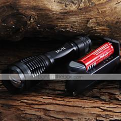 LED-Zaklampen Handzaklampen LED 2000 Lumens 5 Modus Cree XM-L T6 Verstelbare focus voor Kamperen/wandelen/grotten verkennen Dagelijks