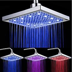 top spray zuhanyfej tricolor világító színhőmérséklet / 8 inch víz nyomásfokozó top spray (absz galvanizáló)
