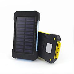 10000mAhteho pankki ulkoinen akku Aurinkopaneelilataus Multi-Output Takulamppu Vedenkestävä 10000 3100Aurinkopaneelilataus Multi-Output