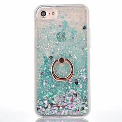 Voor iPhone X iPhone 8 iPhone 8 Plus Hoesje cover Stromende vloeistof Ringhouder Achterkantje hoesje Effen Kleur Hard PC voor Apple