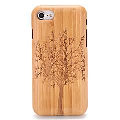 Na Etui Pokrowce Wytłaczany wzór Wzór Etui na tył Kılıf Tekstura drewna Drzewo Twarde Drewno na AppleiPhone 7 Plus iPhone 7 iPhone 6s