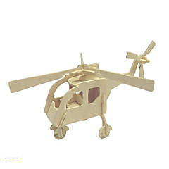Puzzle 3D Puzzle Puzzle Lemn Elicopter Jucarii Elicopter 3D Unisex Bucăți