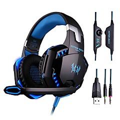 gaming headset mély basszus számítógépes játék fejhallgató mikrofonnal led számítógép pc gamer