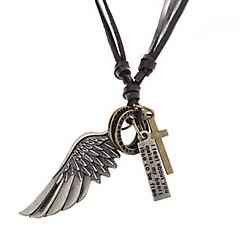 Heren Vintage Armbanden Wikkelarmbanden Kruisvorm Wings Leder Legering Inspirerend Modieus Kostuum juwelen Sieraden Voor Feest Dagelijks