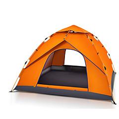 3-4 kişi Çadır Namiot plażowy Tek Kamp çadırı Bir Oda Otomatik Çadır Su Geçirmez Taşınabilir için Yürüyüş Kamp 2000-3000 mm Fiberglas