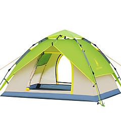 3-4 kişi Çadır Duble Kamp çadırı Bir Oda Otomatik Çadır Su Geçirmez Rüzgar Geçirmez Ultravioleye Karşı Dayanıklı Katlanabilir için