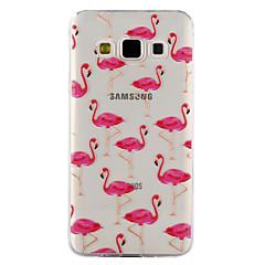 Samsung Galaxy a3 a5 (2017) burkolata flamingó minta csepp ragasztó lakk magas minőségű TPU anyag telefon esetében a3 a5