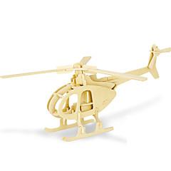 Puzzles 3D - Puzzle Bausteine Spielzeug zum Selbermachen Helikopter 1 Holz