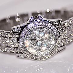 여성용 드레스 시계 패션 시계 손목 시계 독특한 창조적 인 시계 모조 다이아몬드 시계 페이브 시계 중국어 석영 / 라인석 스테인레스 스틸 밴드 멋진 캐쥬얼 실버 골드