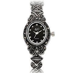 ASJ Dames Modieus horloge Armbandhorloge Japans Kwarts Japanse quartz Waterbestendig Stootvast imitatie Diamond Legering BandVintage