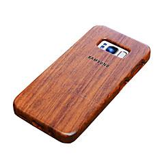 Mert tokok Ütésálló Ultra-vékeny Dombornyomott Minta Hátlap Case Fa mintázat Csempe Szó / bölcselet Kemény Fa mert SamsungS8 S8 Plus S7