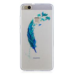 Huawei P10 lite p10 tapauksessa läpinäkyvät kuvio takakansi tapauksessa höyhenet pehmeä TPU