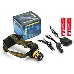 Pandelamper LED 900 Lumen 4.0 Tilstand Cree Q5 18650 Opladeligt batteri Justerbart Fokus Nedslags Resistent Ridsefri Super let Højstyrke