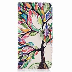 Huawei P10 plus p10 lite kortin haltija lompakon jalustalla flip kuvio tapauksessa koko kehon tapauksessa puun kova PU nahka
