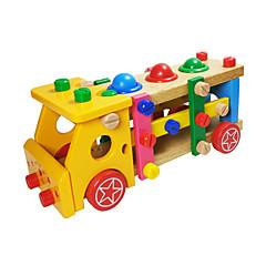 역할 놀이 DIY 키트 조립식 블럭 교육용 장난감 선물 조립식 블럭 네츄럴 우드 6 세 이상 3-6년 이전 장난감