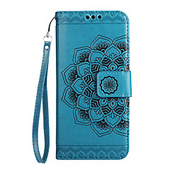 ügy Huawei társ 9 S6 ii kártya tulajdonosa pénztárca flip-kidomborodó telefon esetében mandala virág pu bőr Huawei S5 ii