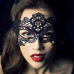 1pcs vendas quentes preta sexy máscara de máscara de laço máscara de máscara para disfarce fantasia vestido / fantasia de festa de