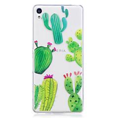 Case voor Sony xperia m2 xa case cover cactus patroon geverfd hoge penetratie tpu materiaal imd proces zachte case telefoon hoesje voor