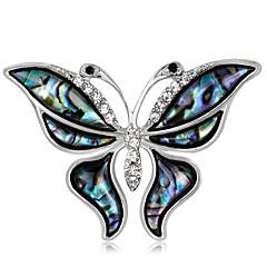 Mulheres Broches Gema Básico Moda Vintage Personalizado Jóias de Luxo Estilo simples Clássico Elegant bijuterias Cristal Imitações de