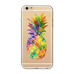 Obudowa dla telefonu iphone 7 plus 7 pokrywka przezroczysta obudowa tylna okładka przypadku ananas ananasowy miękki tpu dla jabłek iphone