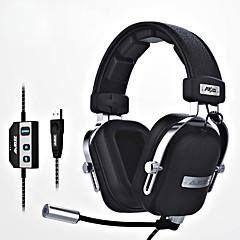 ajazz-ax300 Fejpánt Vezetékes Fejhallgatók Dinamikus Aluminum Alloy Anyag Játszás FülhallgatóMikrofonnal A hangerőszabályzóval