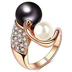 Női Karikagyűrűk Kristály Gyöngyutánzat Alap Szerelem Divat Személyre szabott aranyos stílus luxus ékszer Klasszikus elegáns Sexy