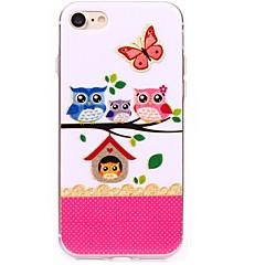 Για iPhone 7 iPhone 7 Plus Θήκες Καλύμματα Εξαιρετικά λεπτή Με σχέδια Πίσω Κάλυμμα tok Πεταλούδα Κουκουβάγια Μαλακή TPU για Apple iPhone