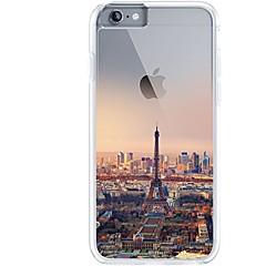 Til iPhone 7 iPhone 7 Plus Etuier Ultratyndt Transparent Mønster Bagcover Etui Eiffeltårnet Byudsigt Blødt TPU for Apple iPhone 7 Plus