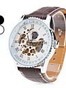 남자의 PU 아날로그 자동 기계 손목 시계 (여러 색)
