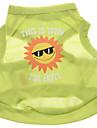 Dog Shirt / T-Shirt Green Dog Clothes Summer Letter & Number