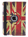 Rotatable Design Retro UK Flag Pattern PU Leather Case with Stand for iPad mini