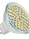 3w gu5.3 (mr16) светодиодный прожектор mr16 60 smd 3528 250 lm теплый белый dc 12 v