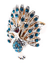 Feminino Maxi anel bijuterias Joias de Luxo Imitacoes de Diamante Liga Pavao Joias Para Diario