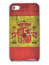 старинные испания флаг шаблон жесткий футляр для iPhone 4/4S