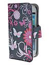 삼성 갤럭시 S3 미니 I8190를위한 자석 스냅과 카드 구멍을 가진 나비와 서클 패턴 PU 가죽 케이스