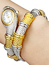 Women\'s Snake Shape White Dial Quartz Analog Bracelet Watch Cool Watches Unique Watches Fashion Watch
