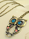 Women\'s Rhinestone Flower Animal Shape Owl Carved Costume Jewelry Jewelry For Party