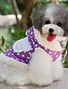강아지 코트 강아지 의류 물방울 무늬 퍼플 핑크
