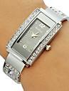 Женские Модные часы Часы-браслет Имитация Алмазный Кварцевый сплав Группа Блестящие Кольцеобразный Серебристый металл