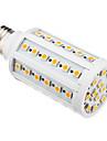 10W E26/E27 Lâmpadas Espiga T 60 SMD 5050 850-890 lm Branco Quente AC 220-240 V