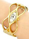 아가씨들 패션 시계 손목 시계 팔찌 시계 석영 밴드 뱅글 우아한 골드