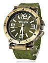Hommes Montre Militaire Montre Bracelet Quartz Silikon Bande Noir Vert Noir Argent Vert