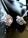 Brincos Curtos Moda Zircao Zirconia Cubica Strass imitacao de diamante Liga Formato de Flor Spot de Luz Multi-Colorida Joias ParaDiario