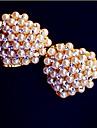OL temperament bride love hearts full of diamond earrings pearl earrings E467