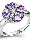 Fashion Women\'s Purple Crystal Wedding&Engagement Rings(Silver)(1 Pc)