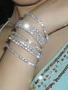 Муж. Теннисные браслеты Уникальный дизайн Мода бижутерия Хрусталь Серебрянное покрытие Искусственный бриллиант Бижутерия Бижутерия